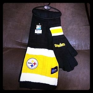 NFL STEELERS Women's Scarf and glove set